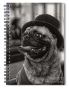Last Call Pug Greeting Card Spiral Notebook