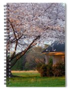 Last Light Of Day In Early Spring Spiral Notebook