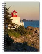 Last Light On Amphritite Lighthouse Spiral Notebook