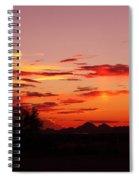 Last Night's Sunset Spiral Notebook