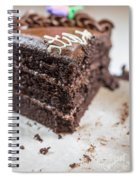 Last Piece Of Chocolate Cake Spiral Notebook