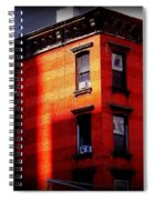 Last Rays Of The Sun - Old Buildings Of New York Spiral Notebook