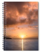 Last Rays Of The Sun Spiral Notebook