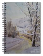 Last Winter Sunset Snow Scene Spiral Notebook