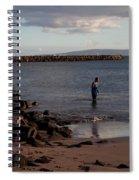 Late Afternoon Angler - Maalaea-maui Spiral Notebook