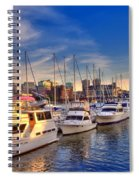 Late Afternoon At Constitution Marina - Charlestown Spiral Notebook