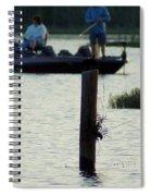 Late Afternoon At Lake Seminole Ga Bass Fishing Spiral Notebook