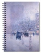 Late Afternoon - New York Winter Spiral Notebook