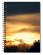 Late April Nebraska Sunset Spiral Notebook