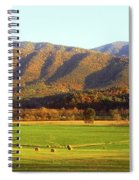 Late Autumn Afternoon In Cades Cove Spiral Notebook