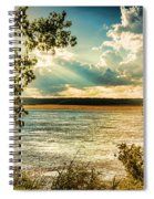 Late Summer Afternoon On The Mississippi Spiral Notebook
