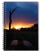 Late Sunset And Tree Spiral Notebook