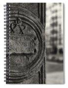 Latin Inscription Spiral Notebook