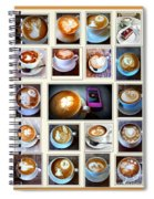 Latte Art Collage Spiral Notebook