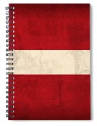 Latvia Flag Vintage Distressed Finish Spiral Notebook