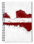 Latvia Painted Flag Map Spiral Notebook