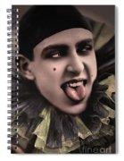 Laughing Pierrot Clown Vintage Art Spiral Notebook
