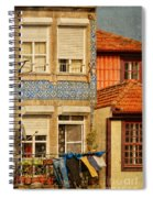 Laundry Day In Porto - Photo Spiral Notebook