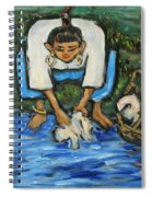 Laundry Girl Spiral Notebook