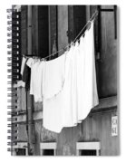 Laundry IIi Black And White Venice Italy Spiral Notebook