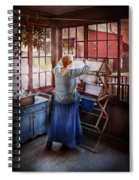 Laundry - Miss Lady Blue  Spiral Notebook