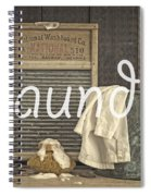 Laundry Room Sign Spiral Notebook