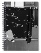Laundry Vii Black And White Venice Italy Spiral Notebook