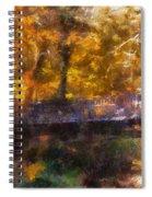 Laura Bradley Park Foot Bridge 02 Spiral Notebook