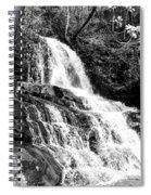 Laurel Falls Smoky Mountains 2 Bw Spiral Notebook