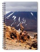Lava Sculptures And Volcanoe Mount Ngauruhoe Nz Spiral Notebook