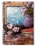 Lavendar Roses Spiral Notebook