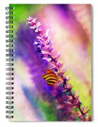 Lavender And Butterlies Spiral Notebook
