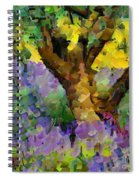 Lavender And Olive Tree Spiral Notebook