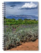 Lavender And Sunflowers Spiral Notebook