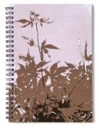 Lavender And Taupe Haiku Spiral Notebook