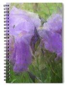 Lavender Blue Iris Garden Spiral Notebook
