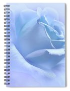 Lavender Blue Rose Flower Spiral Notebook