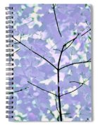 Lavender Blues Leaves Melody Spiral Notebook