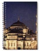 Lavender Brocade Spiral Notebook