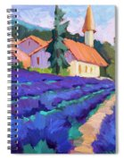 Lavender Field In St. Columne Spiral Notebook