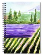 Lavender Field Spiral Notebook