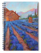 Lavender Field Provence Spiral Notebook