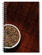 Lavender Flower Seeds In Dish Spiral Notebook