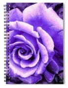 Lavender Rose With Brushstrokes Spiral Notebook