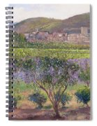 Lavender Seen Through Quince Trees Spiral Notebook