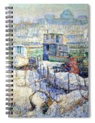 Lawson's Boathouse -- Winter -- Harlem River Spiral Notebook