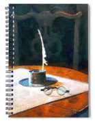 Lawyer - Quill And Spectacles Spiral Notebook