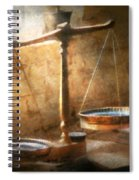 Lawyer - Scale - Balanced Law Spiral Notebook