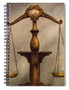 Lawyer - Scale - Fair And Just Spiral Notebook