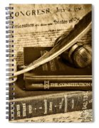 Lawyer - The Constitutional Lawyer In Black And White Spiral Notebook